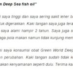 Testimoni Deep Sea Fish Oil Softgel Green World