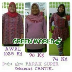 Testimoni Slimming Capsule Green World