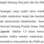 Testimoni Ovary Nutrition Capsule Green World